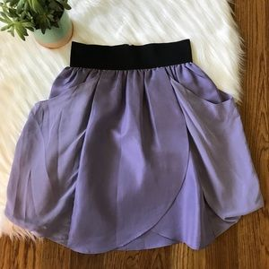 Wilfred 100% Silk Purple Tulip Skirt